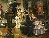 A Conversation Piece 1884 By Solomon Joseph Solomon