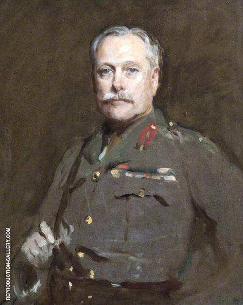Field Marshal Earl Haig 1919 Painting By Solomon Joseph Solomon