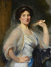 Gertrude Salaman The Artists Niece By Solomon Joseph Solomon
