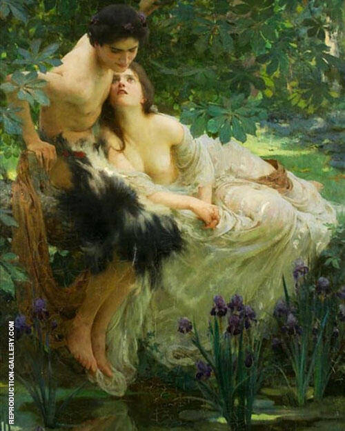 Narcissus and Echo Painting By Solomon Joseph Solomon