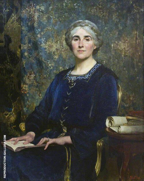 Nina Salaman 1918 Painting By Solomon Joseph Solomon