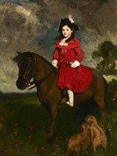 The Field The Artists Daughter on a Pony By Solomon Joseph Solomon