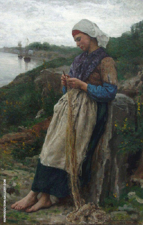 A Fisherman's Daughter By Jules Breton