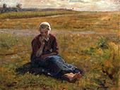 Afternoon Repast 1885 By Jules Breton