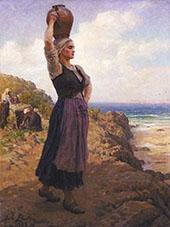 A La Fontaine By Jules Breton