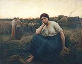 Evening 1860 By Jules Breton
