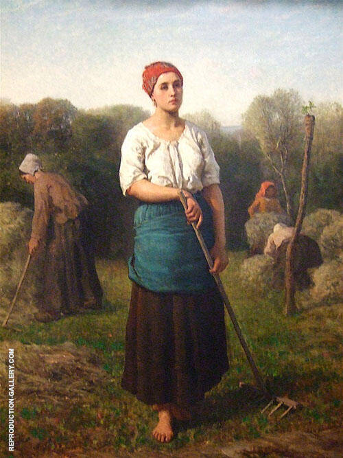 Girl with a Rake 1859 By Jules Breton