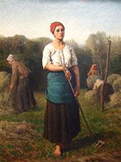 Girl with a Rake 1859 By Jules Breton