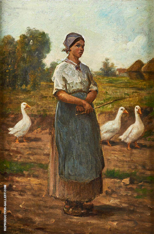 Girl with Geese By Jules Breton