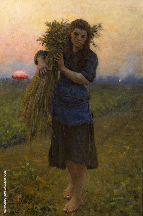 Gleaner 1894 Painting By Jules Breton - Reproduction Gallery