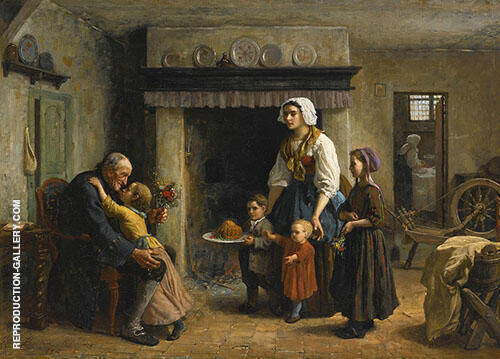 Grandfather's Birthday By Jules Breton