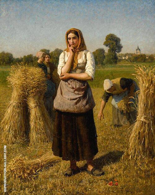 La Glaneuse By Jules Breton