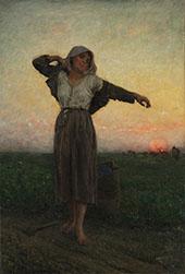 La Glaneuse Lasse By Jules Breton