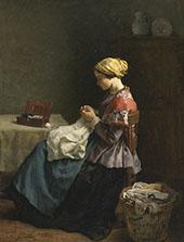 La Petite Couturiere 1868 By Jules Breton