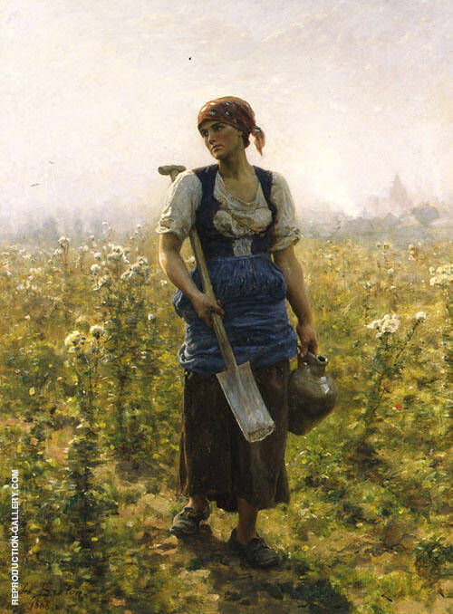Le Matin Painting By Jules Breton - Reproduction Gallery