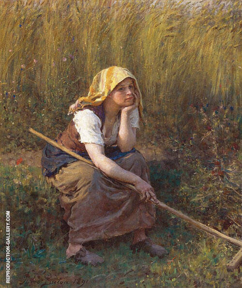 Summer Painting By Jules Breton - Reproduction Gallery