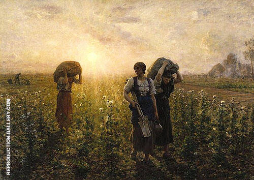 The End of The Working Day 1886 By Jules Breton