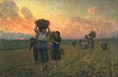 The Last Gleanings By Jules Breton