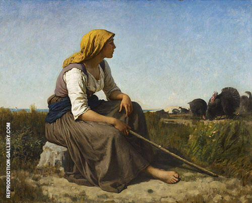 The Turkey Tender 1864 By Jules Breton