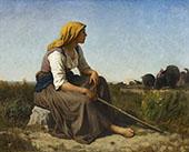 The Turkey Tender 1864 By Jules Breton
