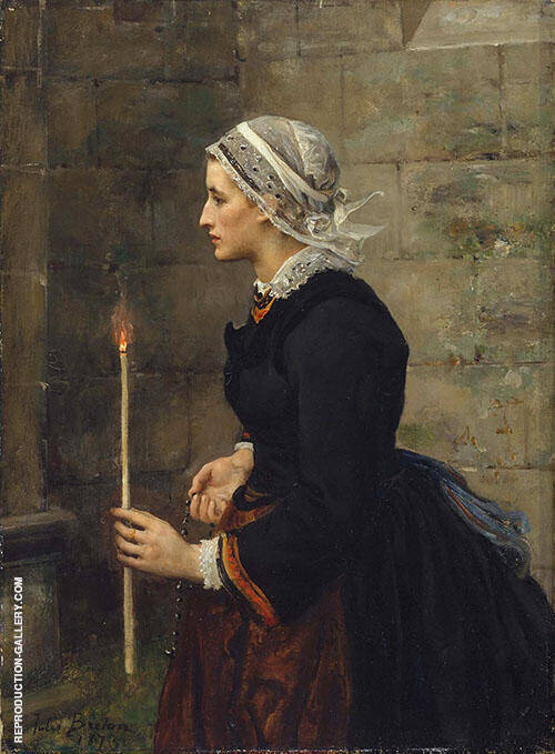 Woman with a Taper 1873 By Jules Breton