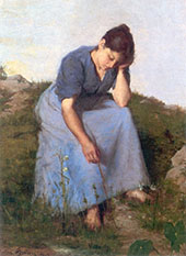 Young Woman in A Feild By Jules Breton