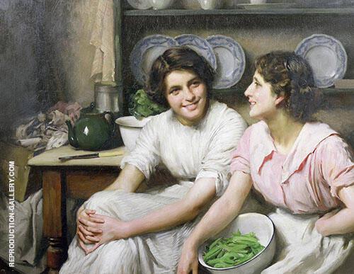 Chatterboxes c1890 By Thomas Benjamin Kennington