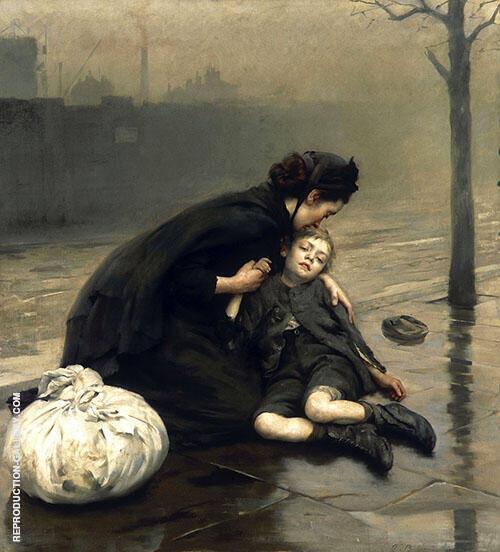 Homeless 1890 By Thomas Benjamin Kennington