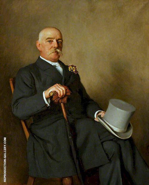 Howel Cuthbertson Mayor of Neath Painting By Thomas Benjamin Kennington