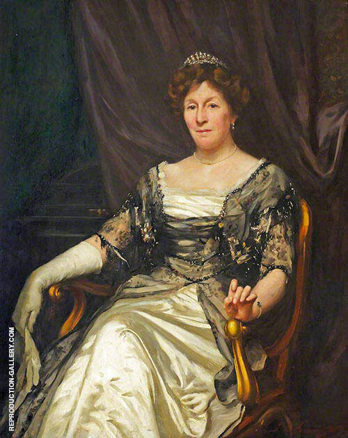 Lady Elizabeth McAlister Painting By Thomas Benjamin Kennington