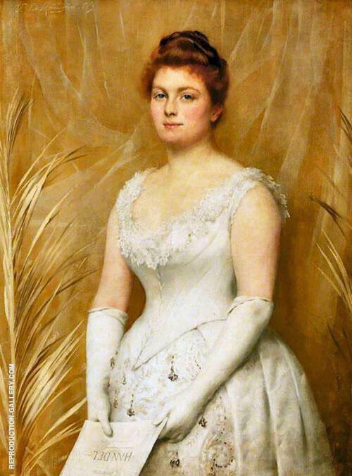 Marian Mckenzie Painting By Thomas Benjamin Kennington