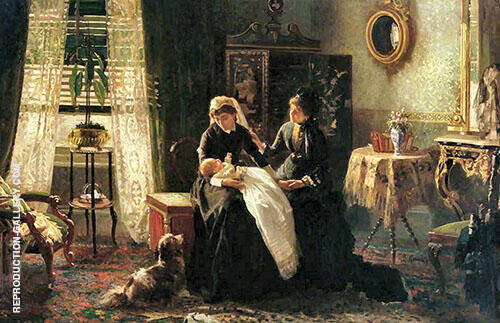 Maternal Advice Painting By Thomas Benjamin Kennington