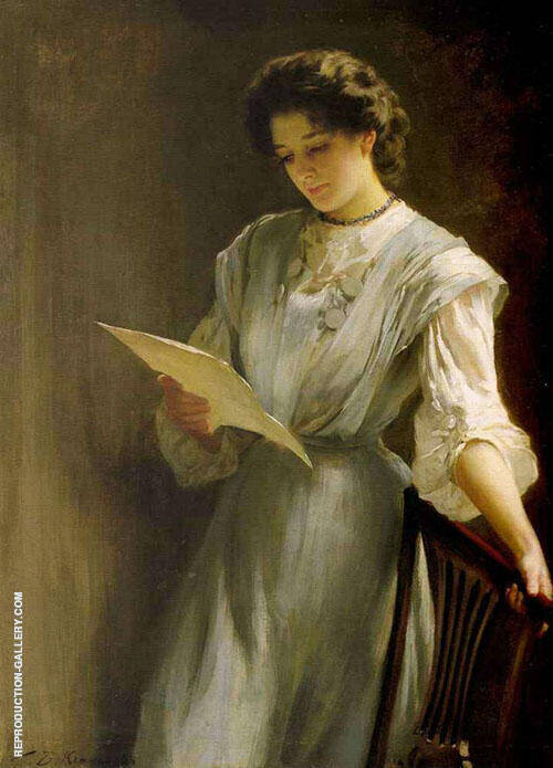 Reading The Letter By Thomas Benjamin Kennington