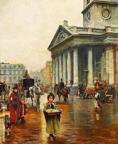 St Martin in The Fields Painting By Thomas Benjamin Kennington