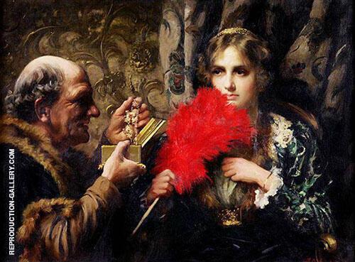 Temptation 1914 Painting By Thomas Benjamin Kennington