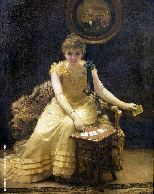 The Ace of Hearts Painting By Thomas Benjamin Kennington
