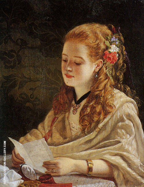 The Letter Painting By Thomas Benjamin Kennington - Reproduction Gallery