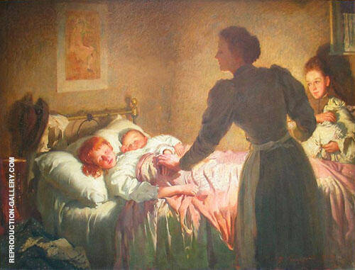 The Mother 1895 Painting By Thomas Benjamin Kennington