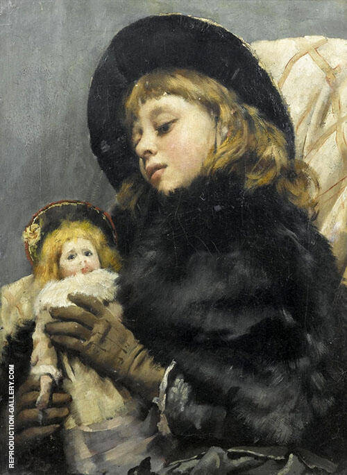 The New Doll Painting By Thomas Benjamin Kennington - Reproduction Gallery