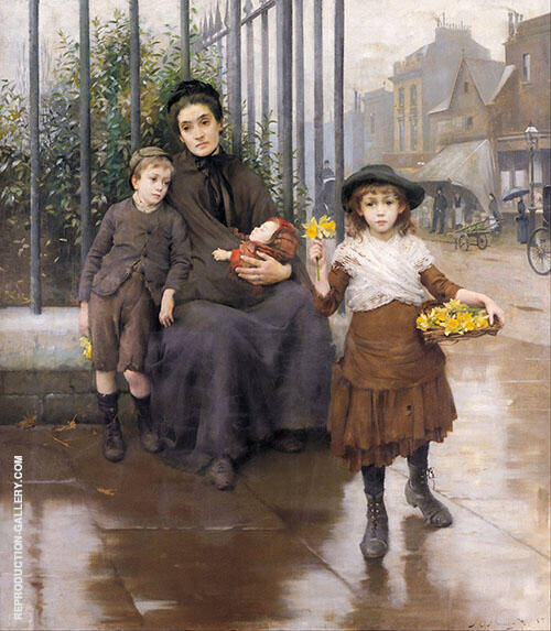 The Pinch of Poverty 1891 By Thomas Benjamin Kennington