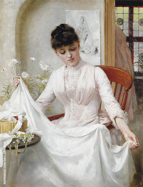 The Wedding Dress 1889 Painting By Thomas Benjamin Kennington