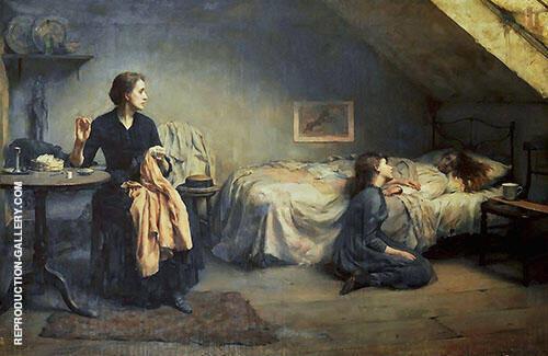 Widowed and Fatherless 1888 By Thomas Benjamin Kennington