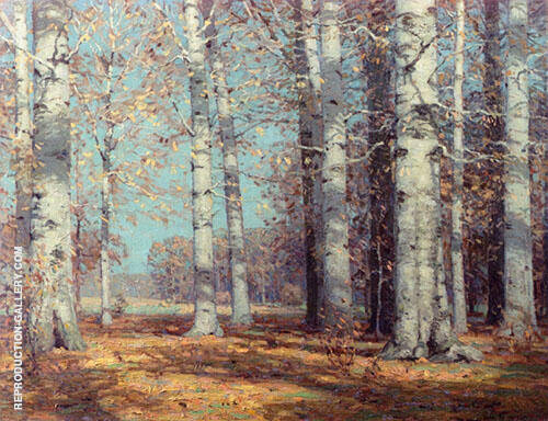 Autumn Beeches By John F Carlson
