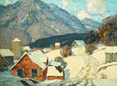 Mountain Hamlet By John F Carlson