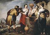 Rebecca and Eliezer 1650 By Bartolome Esteban Murillo