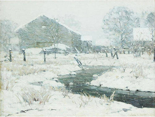 Snow Bound Brook By John F Carlson