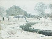 Snow Bound Brook By John F Carlson