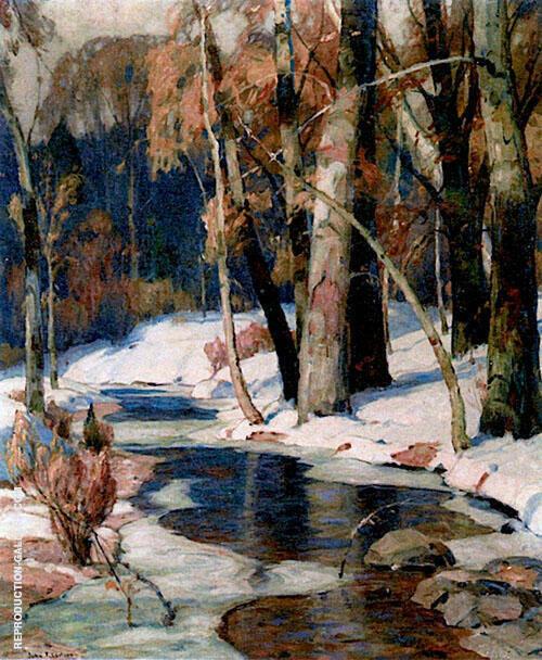 Sunlit Stream By John F Carlson