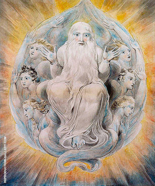 God Blessing the Seventh Day By William Blake