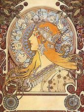 Zodiac 1896 By Alphonse Mucha